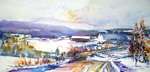 Farm in Winter-Walden, VT